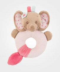 Nattou Rattle Rose Elefant Multi