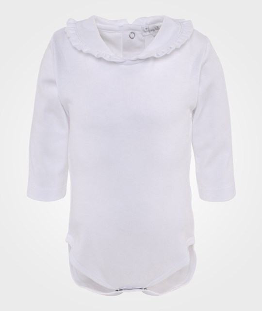Kissy Kissy Kissy Basic L/S Body w/collar Hvit