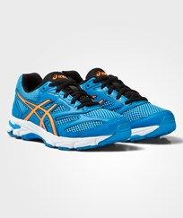 Asics Blue Gel-Pulse 8 Junior Trainers DIVA BLUE/SHOCKING ORANGE/BLACK