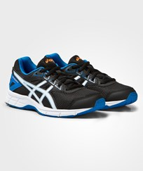 Asics Black Gel-Galaxy 9 Junior Trainers BLACK/WHITE/ELECTRIC BLUE