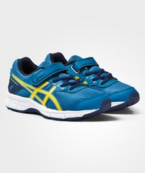 Asics Blue Gel-Galaxy 9 Kids Trainers THUNDER BLUE/VIBRANT YELLOW/INDIGO BLUE