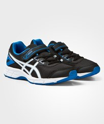 Asics Black Gel-Galaxy 9 Kids Trainers BLACK/WHITE/ELECTRIC BLUE
