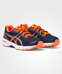 Asics Orange GT-1000 5 GS - BOYS Trainers INDIGO BLUE/HOT ORANGE/THUNDER BLUE