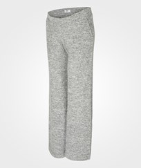 Mamalicious Mllounge Knit Pants V Light Grey Melange Light Grey Melange