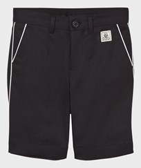 Dolce & Gabbana Black Shorts with White Piping N0000