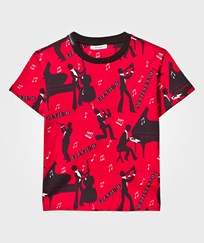 Dolce & Gabbana Red Musician All Over Print Tee HR600