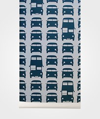 ferm LIVING Rush Hour Wallpaper - Petrol Petrol