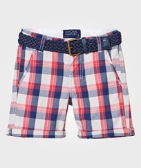 Mayoral Red and Navy Check Shorts with Belt 43