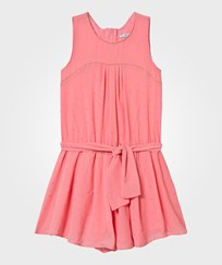Mayoral Pink Stud Detail Belted Playsuit 76