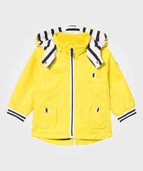 Mayoral Yellow Hooded Parka with Stripe Lining and Detachable Hood 52