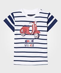 Mayoral Navy Stripe Moped Print Tee 72