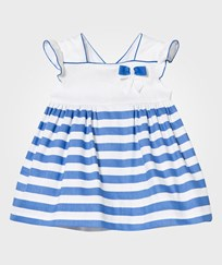 Mayoral Blue and White Stripe Dress with Bow Detail 29