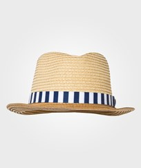 Mayoral Beige Trilby with Stripe Hat 41