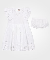 Stella McCartney Kids Sundae Dress with Embroidered  Anglaise 9082