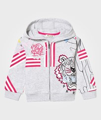 Kenzo Grey Branded All Over Print Hoody 294