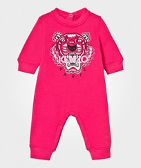 Kenzo Hot Pink Tiger Embroidered Sweat Romper 35