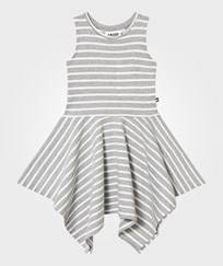 Molo Campbell Dress Grey Melange Stripe Grey melange stripe