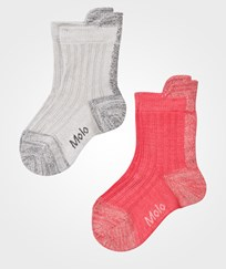 Molo Nitt 2-Pack Socks Spicy Pink Spicy Pink