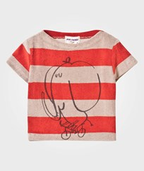 Bobo Choses Striped Terry Top The Cyclist Red Clay Red Clay
