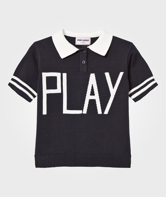 Bobo Choses Play Knit Polo Sweater Black Black