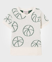 Bobo Choses Basket Ball Knit Sweater Off White Off white