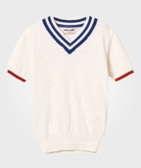 Bobo Choses Knit Jumper V neck A Legend Off White Off white