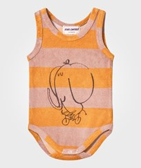 Bobo Choses Striped Terry Body The Cyclist Golden Nugget Golden Nugget