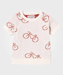 Bobo Choses The Cyclist Baby Knit Sweater Off White Off white