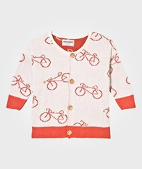 Bobo Choses The Cyclist Baby Knit Cardigan Off White Off white
