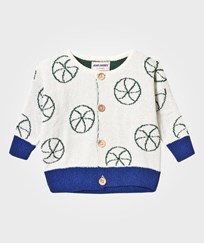 Bobo Choses Basket Ball Baby Knit Cardigan Off White Off white