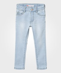 Levis Kids Bleached Denim 721 High Rise Super Skinny Jean 46