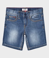 Tommy Hilfiger Blue Mid Wash Clyde Denim Shorts 911