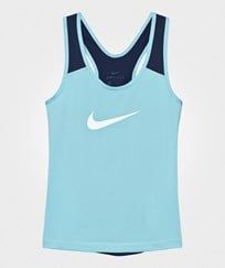 NIKE Blue Pro Cool Tank VIVID SKY/BINARY BLUE/WHITE