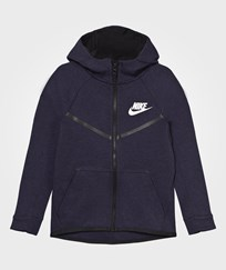 NIKE Navy Tech Fleece Hoodie OBSIDIANHEATHER/BLACK/WHITE