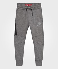 NIKE Grey Tech Fleece Joggers CARBON HEATHER/BLACK/COOL GREY