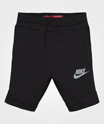 NIKE Black Tech Fleece Shorts BLACK/COOL GREY