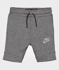 NIKE Grey Tech Fleece Shorts CARBON HEATHER/COOL GREY
