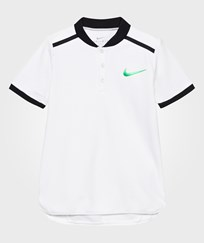 NIKE White Advance Tennis Polo White