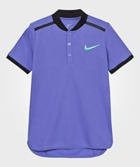 NIKE Blue Advance Tennis Polo COMET BLUE