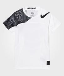 NIKE White Hypercool Tee WHITE/WHITE/BLACK