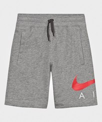 NIKE Grey Air Shorts CARBON HEATHER/ANTHRACITE/UNIVERSITY RED