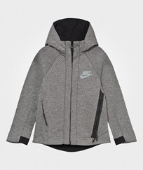 NIKE Grey Tech Fleece Full Zip Hoodie CARBON HEATHER/COOL GREY