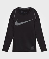 NIKE Black Hyperwarm Tee BLACK/DARK GREY