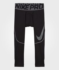 NIKE Black Hyperwarm Baselayer Tights BLACK/DARK GREY