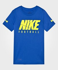 NIKE Blue Football Logo Dry Tee Game Royal