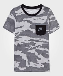 NIKE White Tech Tee White/Black