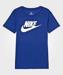 NIKE Blue Futura Logo Tee DEEP ROYAL BLUE/WHITE