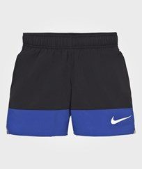 NIKE Boys´ Black and Blue Running Short BLACK/GAME ROYAL/REFLECTIVE SILV