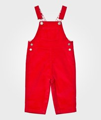 Petit Bateau Red Corduroy Overalls 79