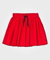 Petit Bateau Red Fine Cord Skirt with Navy Trim 79